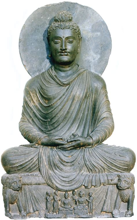 buddhist hair traditions art culture 104 meditating buddha from ghandhara
