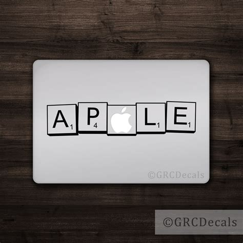 scrabble for macbook pro scrabble letters mac apple logo cover laptop vinyl decal