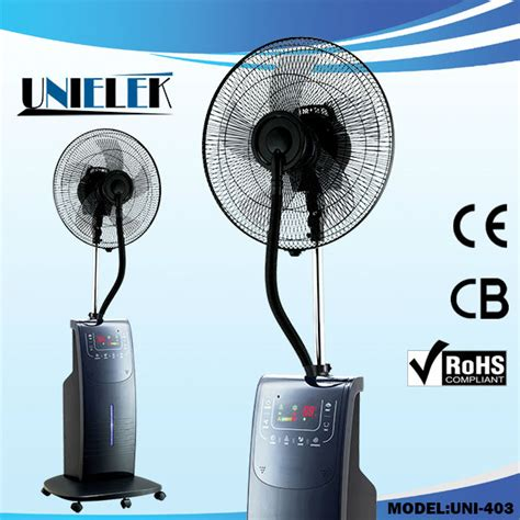 industrial fan with water spray low noise touch plastic water steam mist fan fan