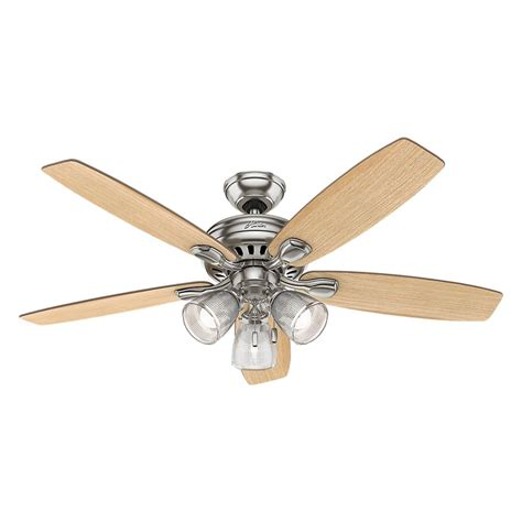 hunter highbury ceiling fan hunter highbury ii 52 in led indoor brushed nickel