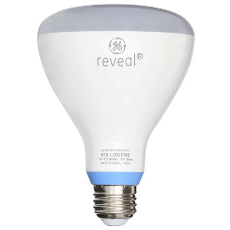 Ge Reveal Led Light Bulbs Ge Reveal 65w Equivalent Reveal 2700k Br30 Dimmable Led Flood Light Bulb Led12dr303rvles The