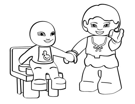 lego girl colouring pages