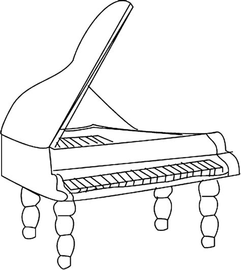 piano coloring page www pixshark com images galleries