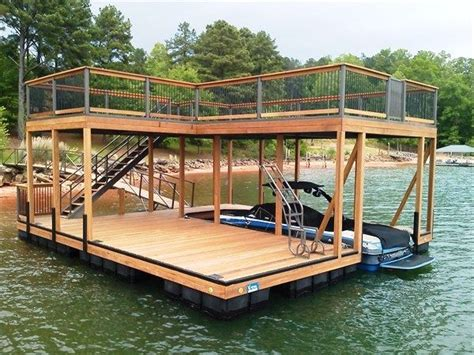 legend boats white lake ipe decking ipe capped rails double decker two story