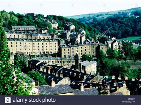 mill town hebden bridge yorkshire england uk weaving mills english