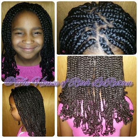 box braids with curly ends kids box braids with curled ends the hairdo i do