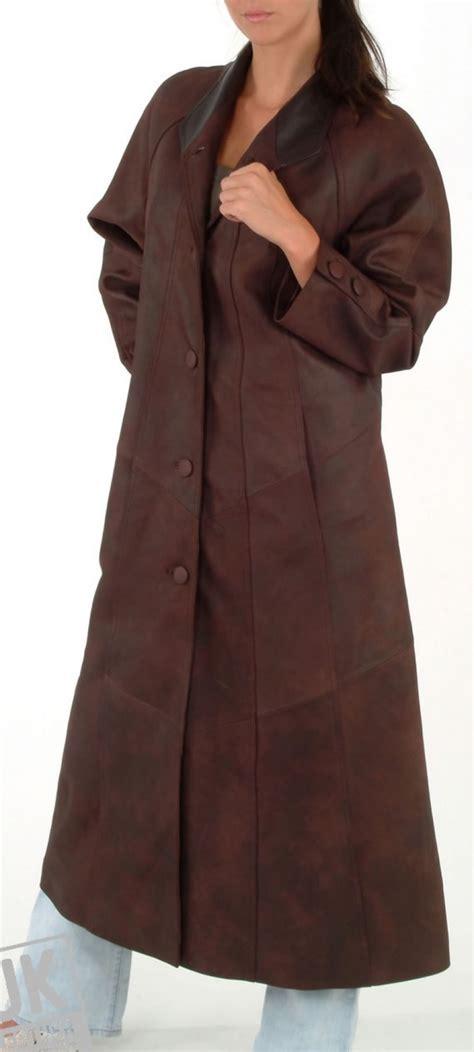 womens leather swing coat womens full length leather coat iris uk lj