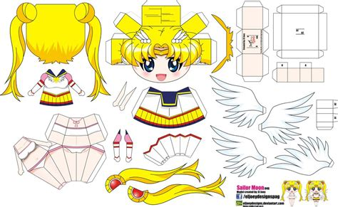 Sailor Moon Papercraft - sailor moon joey s chibi 046 by eljoeydesigns on