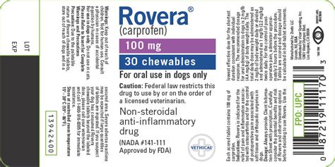 rovera for dogs dailymed rovera carprofen tablet