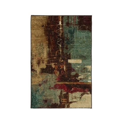 home accent rugs mohawk home aqua fusion 2 ft 6 in x 3 ft 10 in accent