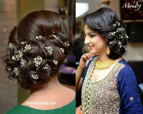 Hair Hairstyles by 30 Bridal Updo Hairstyles Indian Tips