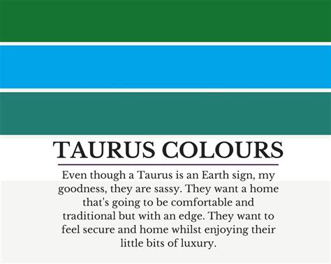 taurus colors colour schemes to suit taurus how to use them in your