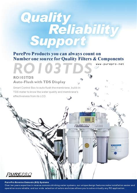 Desalite Dm 8040lp Membrane Ro purepro 174 ro103tds osmosis water filter systems