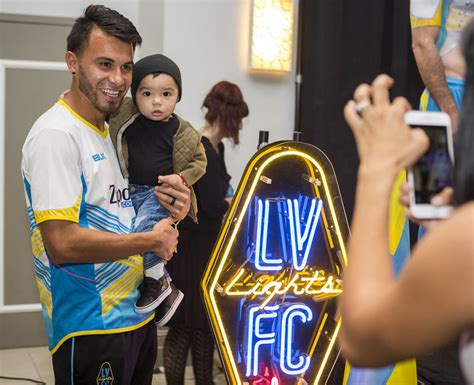 las vegas lights fc players lights fc paints on away kits at season kickoff