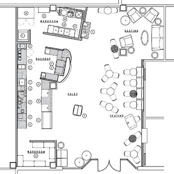 layout de planta de cafe starbucks floor plan cake pinterest starbucks cafes