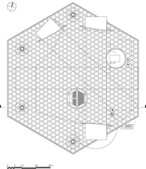 The Metz Floor Plan by Galeria De Centre Pompidou Metz Shigeru Ban Architects 7