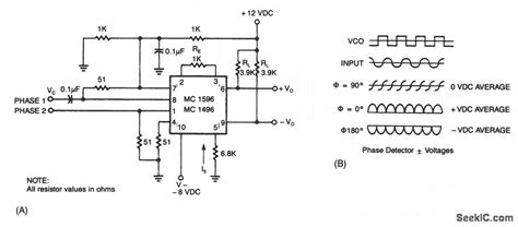 phase detector circuit diagram phase detector measuring and test circuit circuit