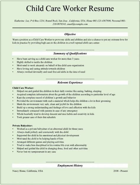Daycare Assistant Sle Resume by Sle Resume For Daycare Worker 28 Images Daycare Sle Resume 28 Images Cover Letter For Sle