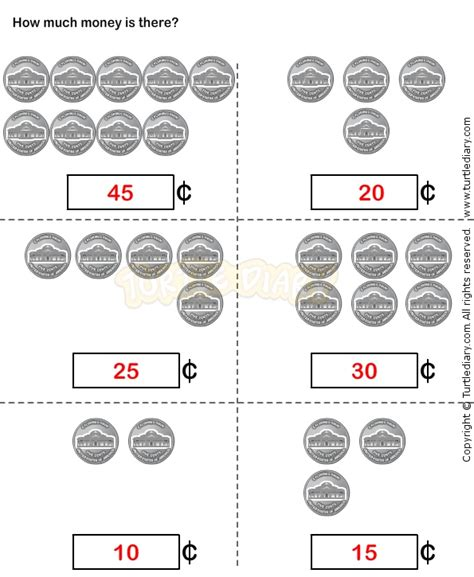 Counting Coins 1 10 Belanbe 74 best images about grade math ideas on