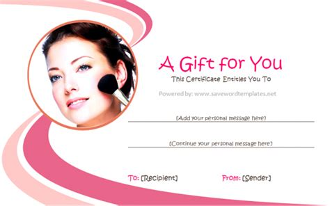 makeup gift certificate template free salon flyers templates studio design gallery