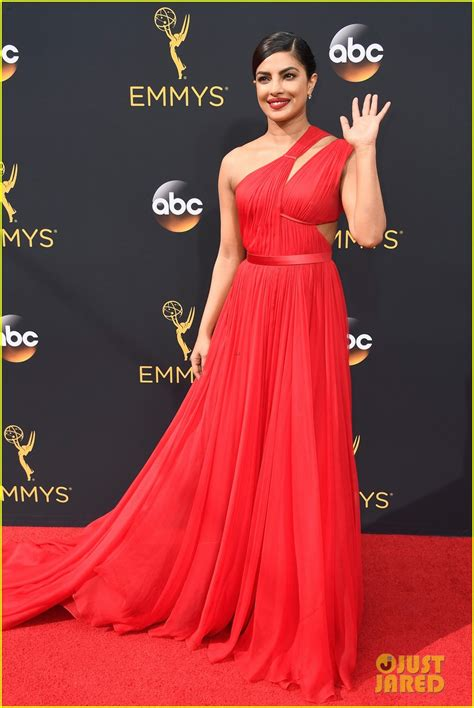 priyanka chopra at the emmy priyanka chopra is a beauty in red for emmy awards 2016