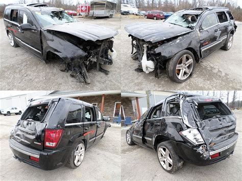 wrecked jeep grand 2006 black jeep grand cherokee srt 8 cleveland power