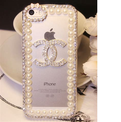 Luxury Fashion Rhinestone Crown Pearl Bling Casecassingcasing Iphone buy wholesale funky bling rhinestone chanel flower cover for iphone 7