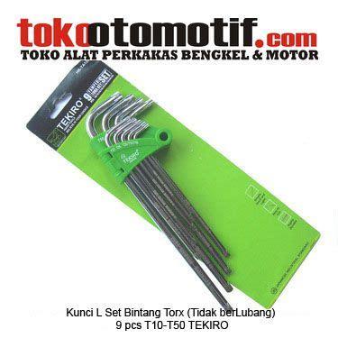 Kunci L Tekiro Panjang kunci l set torx tidak berlubang 9 pcs t10 t50 tekiro