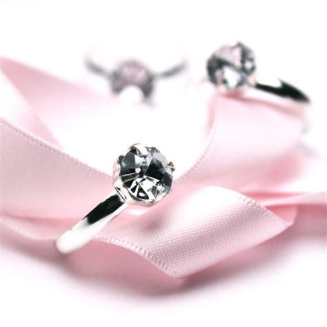 silver engagement rings favor accents 12 pcs bridal