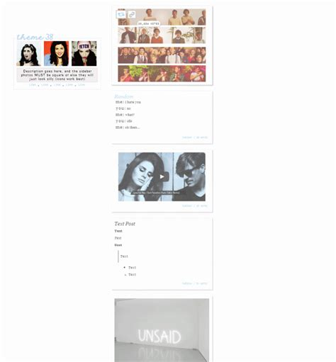 Themes Tumblr Links | gallery tumblr themes with sidebar and links