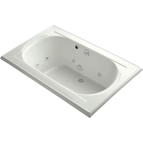 kohler memoirs bathtub shop kohler memoirs 66 in dune acrylic drop in whirlpool