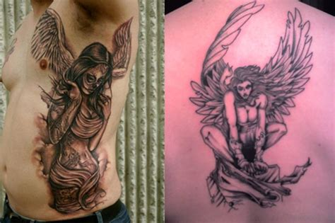 angel tattoo designs meaning 58 fancy angel tattoos for rib