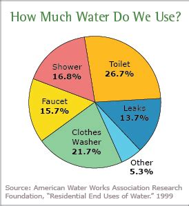 How Much Water Does The Average Shower Use current statistics