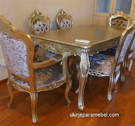 Meja Makan Pekanbaru kursi meja makan ukiran klasik emas duco ukir jepara mebel