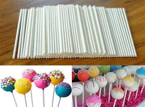 Orderan Cake Pop 100 Pcs sell 100 pcs pop sucker sticks chocolate cake lollipop lolly mould white on