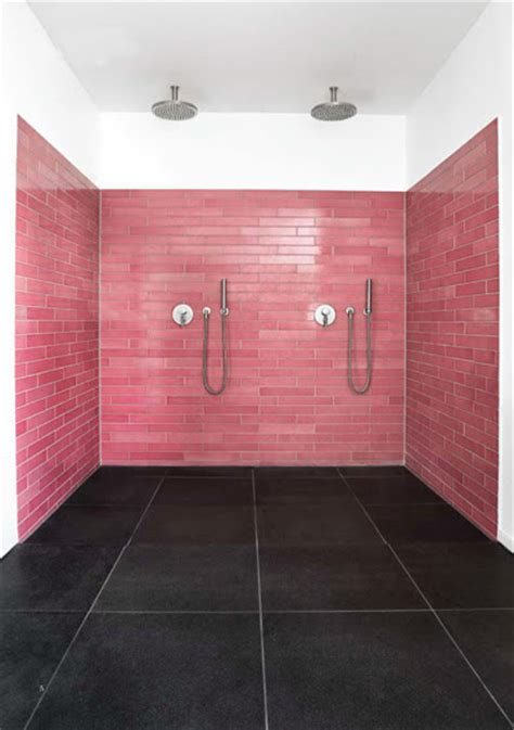 Modern Pink Tile Bathroom Pink Bathroom Tiles
