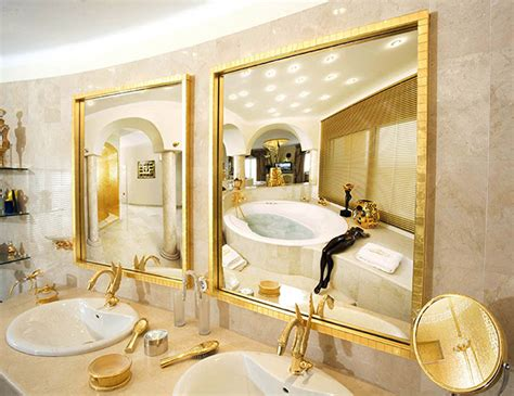 gold bathroom mirror spectacular villa in spain made of gold up for sale the