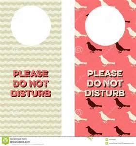 Free Do Not Disturb Door Hanger Template by Doc 12801920 Do Not Disturb Door Hanger Template Door