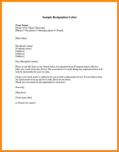 Resignation Letter Less Than Two Weeks 12 Best 2 Weeks Notice Letter Actor Resumed