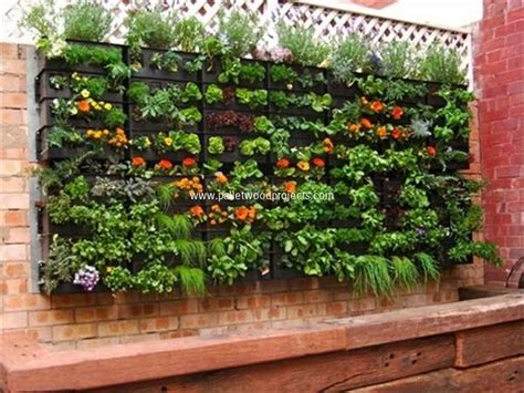 Pallet Wall Garden Diy Pallet Vertical Garden Projects Pallet Wood Projects