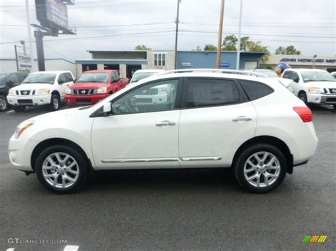 nissan white rogue 2013 pearl white nissan rogue sl 72040575 photo 6
