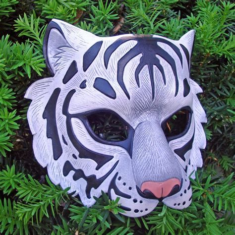 How To Make A Tiger Mask Out Of Paper - white tiger mask by merimask on deviantart