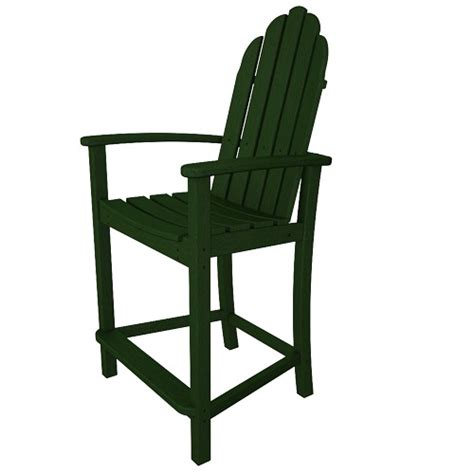 Adirondack Bar Chairs by Classic Adirondack Bar Chair Polywood Luxury Garden