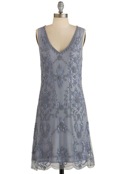 grey beaded dress bead it dress in grey