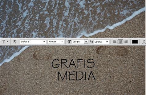 membuat tulisan di pasir online cara membuat efek teks diatas pasir pantai dengan
