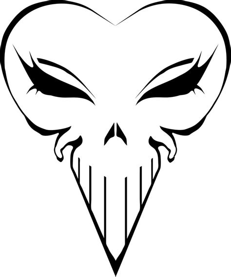 punisher tribal tattoo deviantart more like cyber punisher skull by