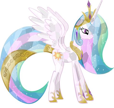 my little pony princess celestia crystal princess celestia by vector brony on deviantart