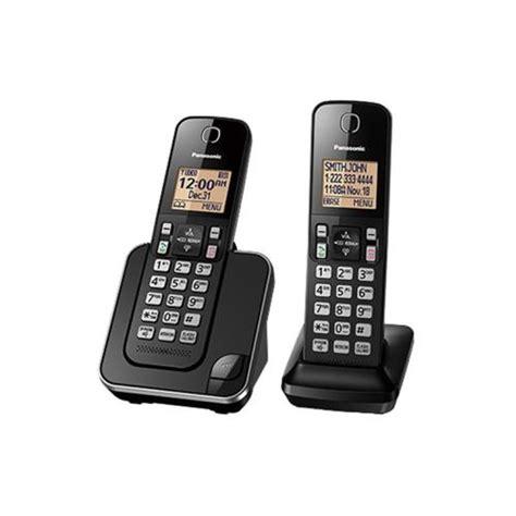 Best Seller Wireless Panasonic Kx Tg2511 Black panasonic kx tgd382 cordless phone system with 2 handsets black refurbished cordless phones