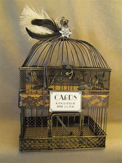 Wedding Card Box Birdcage by Deco Wedding Card Box Bird Cage Bling Feathers