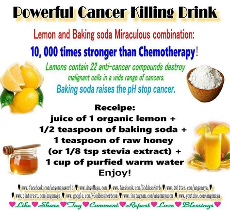 Detox Baking Soda Lemon by 1 Organic Lemon Half Tsp Of Baking Soda 1 Tsp Honey